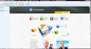 Artisteer Load IT Solutions Template